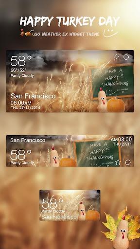 玩免費天氣APP|下載Happy Turkey Day GO Weather EX app不用錢|硬是要APP