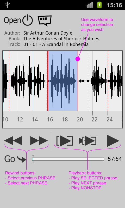 Repeat player WorkAudioBook - screenshot