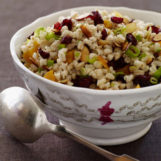 Warm Wheat Berry Salad with Dried Fruit.