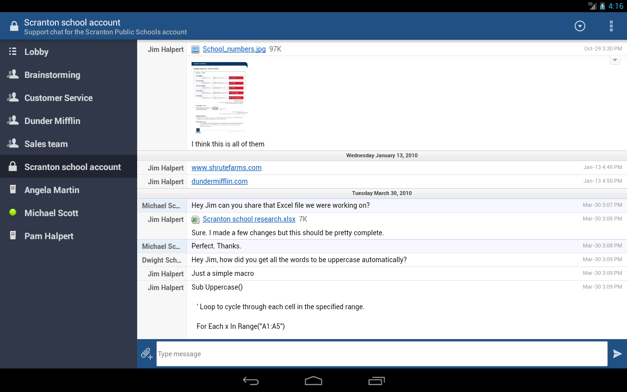 HipChat - Team chat on-the-go - screenshot
