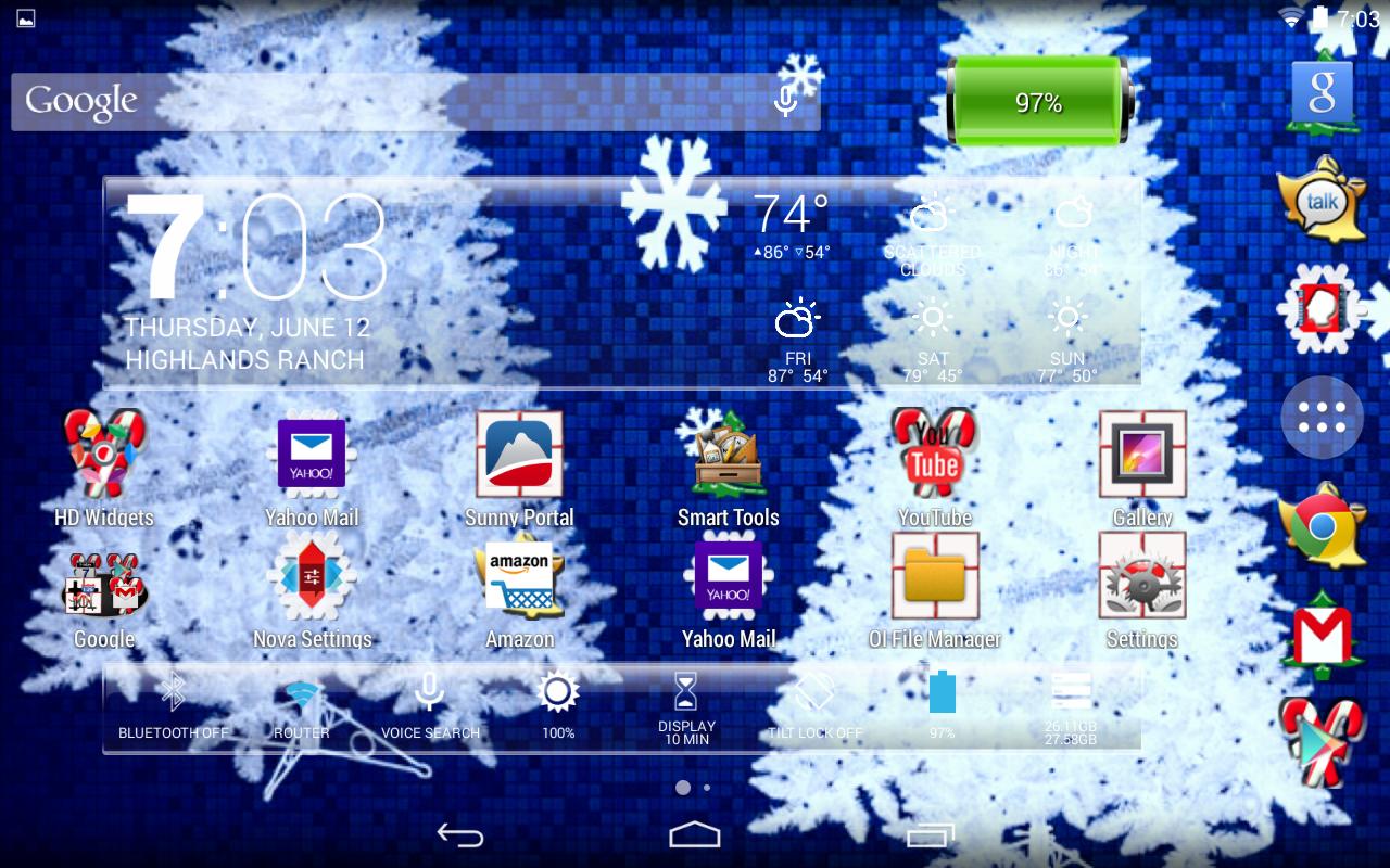 Google themes christmas - Lc Christmas Nova Apex Theme Screenshot