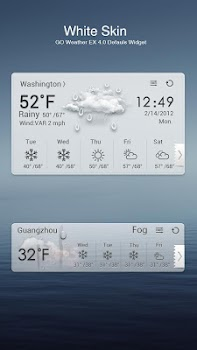 GO Weather EX Theme White