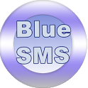Blue SMS free texts icon