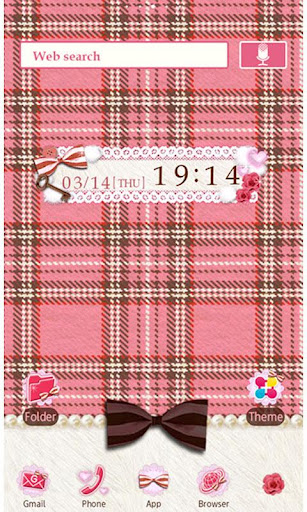 Pink Plaid Wallpaper Theme 1.5 Windows u7528 1