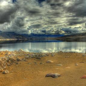 Lunar Like by Debbie Sodeman-Roelle - Landscapes Waterscapes ( water, washington, landscape, lake roosevelt, reservior, , HDR, Landscapes )