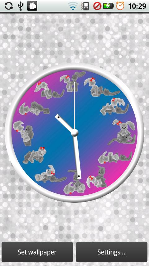 Bunny Kama Sutra Clock- screenshot