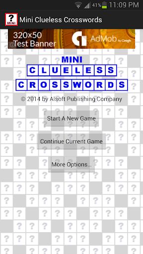 Mini Clueless Crosswords