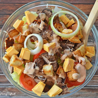 Cheeseburger Salad with Homemade Dressing & Good Cook Kitchen Draw Sweepstakes!