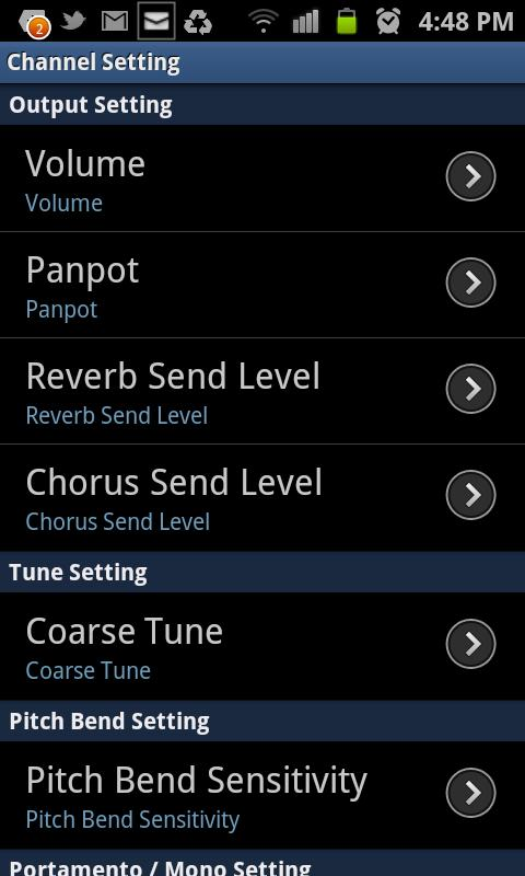 WaveSynth for Android - screenshot