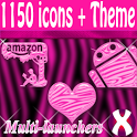 Pink Zebra theme and icon pack icon
