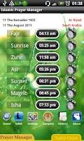 Screenshot of Islamic Muslim Prayer Manager