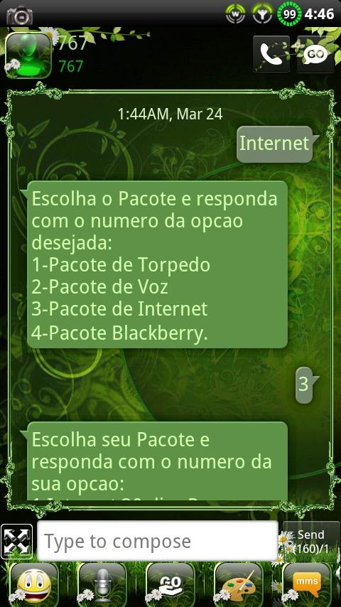 Nature v2 GO SMS Theme- screenshot