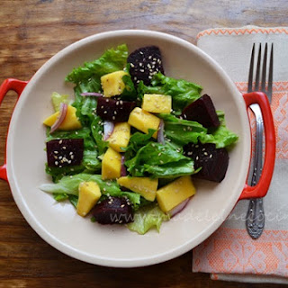Salad with Mango and Beets.