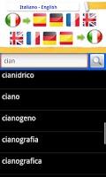 Screenshot of EURO DIZIONARIO OFFLINE