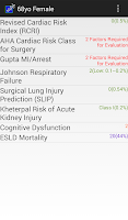 Screenshot of Preop Risk Assessment
