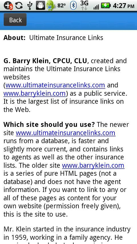 Ultimate Insurance Links - screenshot