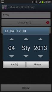 Kalkulator Odsetkowy Screenshot 3