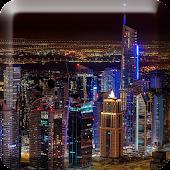 Dubai Night Live Wallpaper PRO