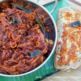 Deviled Onion Sambal- Sri Lankan (Spicy).