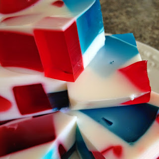 Field Trip- Red, White and Blue Jell-o Squares