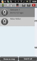 Screenshot of GEOCARE™ Mobile