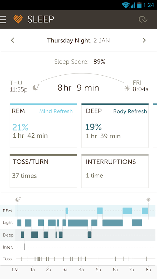 Basis B1 Fitness&Sleep Tracker- screenshot