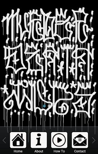 如何绘制涂鸦字母