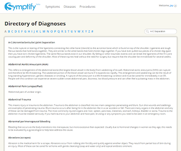 Symptify- Symptoms Simplified- screenshot thumbnail