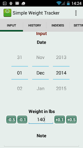Simple Weight Tracker - Free