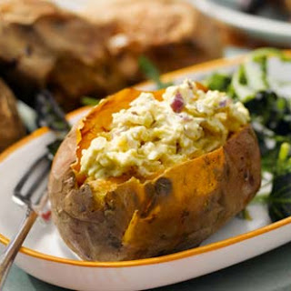 Sweet Potato With Goat's Cheese