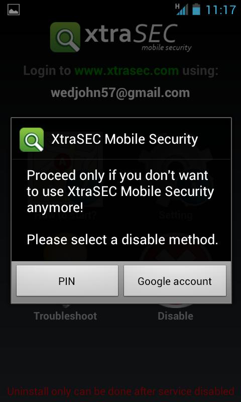 XtraSEC Phone Locator - screenshot