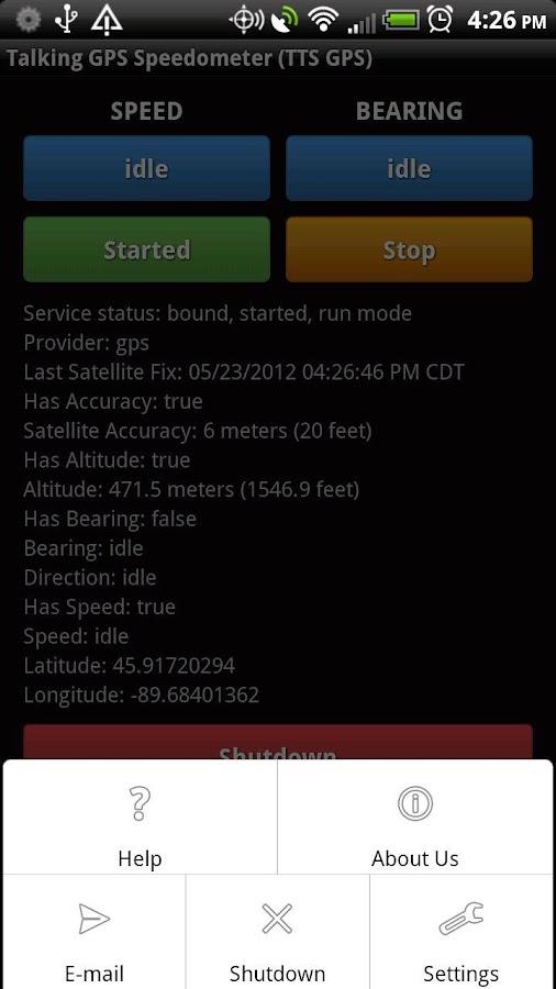 Talking GPS Speedometer- screenshot