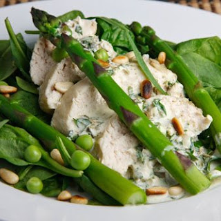 Chicken and Asparagus Salad with Creamy Tarragon Dressing.