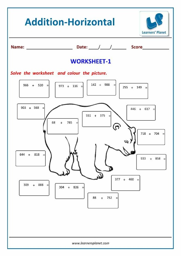Grade3MathsAdditionWB Android Apps on Google Play – Maths Worksheet for Class 3