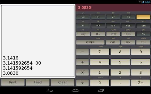 HP-45 scientific calculator- screenshot thumbnail