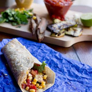 California Burrito with Grilled Zucchini.