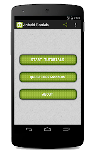 Tutorials for Android Screenshot