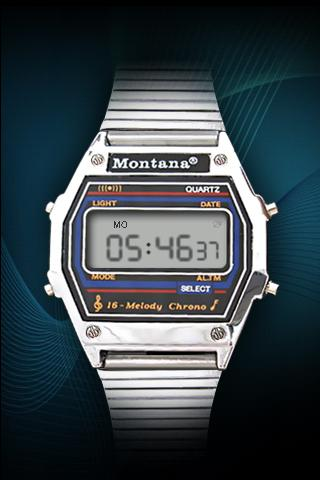 Montana clock - screenshot