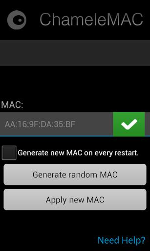 ChameleMAC - Change Wi-Fi MAC