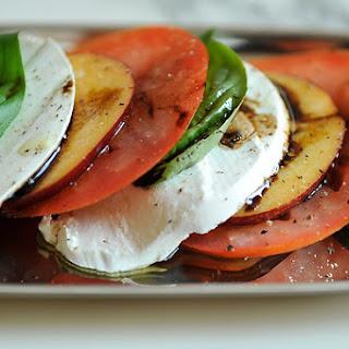 Tomato, Necatarine, and Mozzarella Salad.