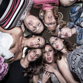 bride & friends by Jovan Barajevac - Wedding Groups ( friends, novi sad, wedding, funny, group, bride )