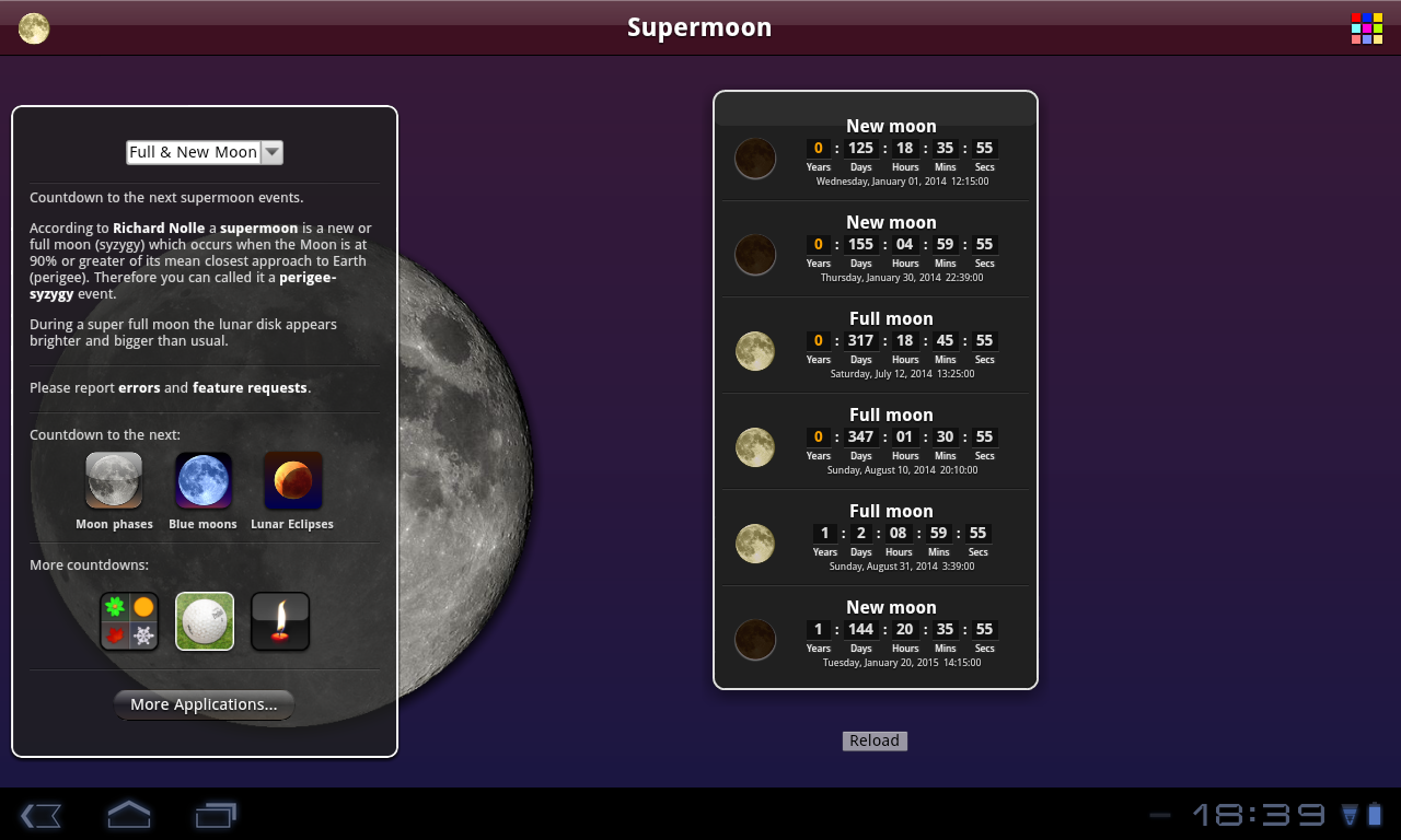 Supermoon Free- screenshot
