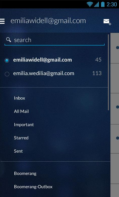 Email App for Gmail & Exchange- screenshot