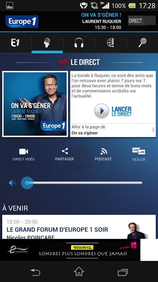Europe1 - screenshot