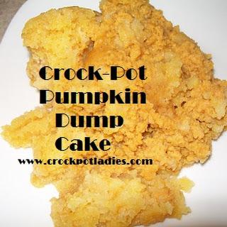 Crock-Pot Pumpkin Dump Cake.