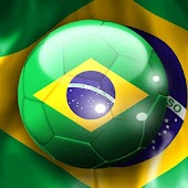 Brazil Flag Footbal Wallpaper