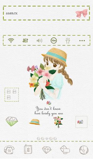 Girl holding flower dodol