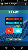 Screenshot of Tennis Score Keeper