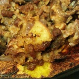 Paleo Cauliflower Rice Stuffed Acorn Squash.