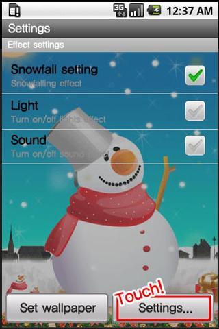 SnowMan LiveWallpaper - screenshot